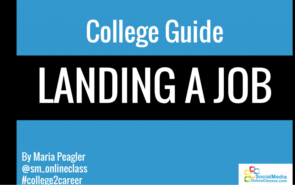 I branded my Slideshare presentation with #college2career to immediately identify it's purpose