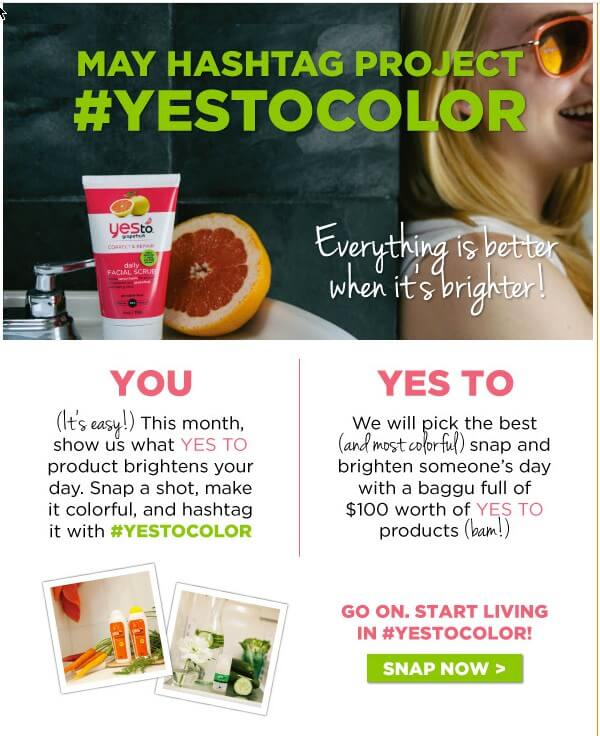 #yestocolor hashtag contest