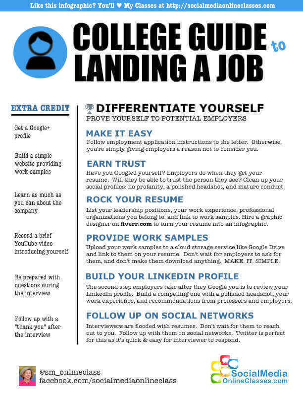 college guide to getting a job infographic