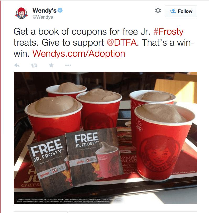 wendy's #frosty hashtag