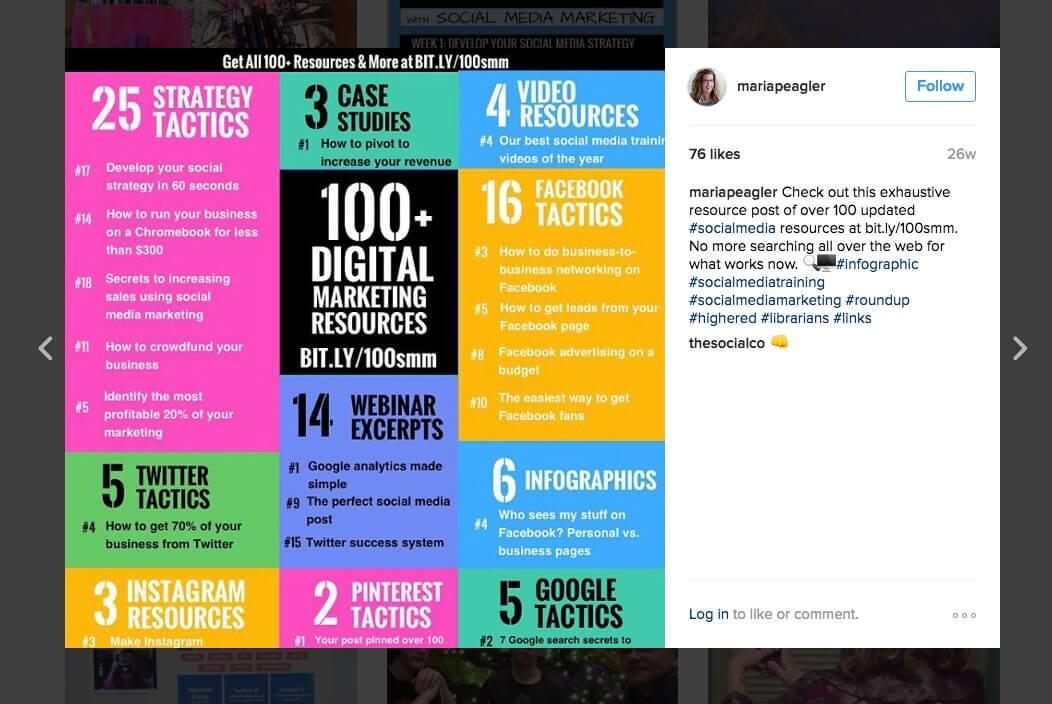 content marketing instagram bright image