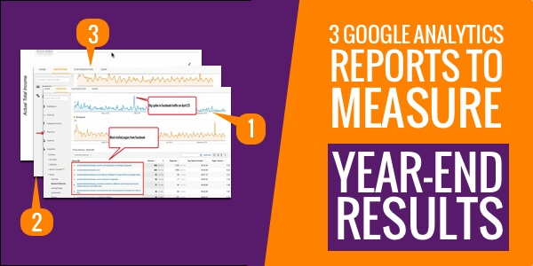 measure year-end results with google analytics reports