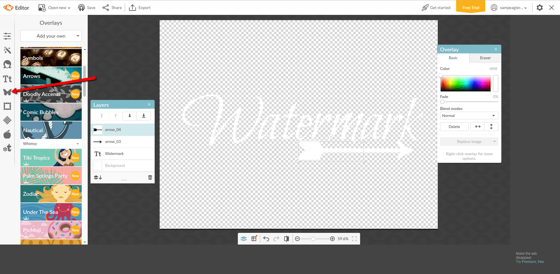 picmonkey watermark text adjustment